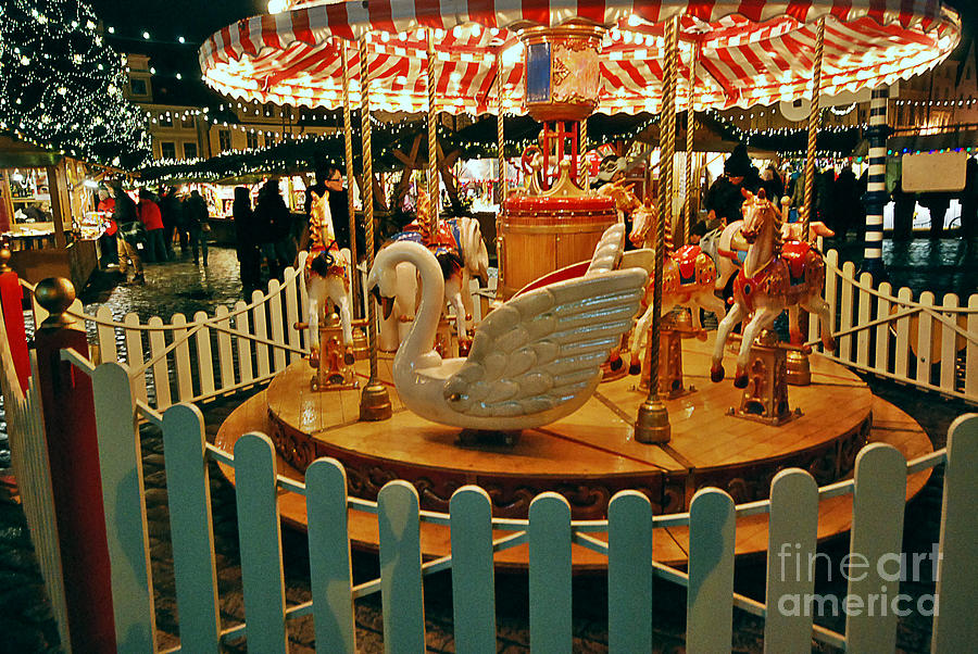 Christmas Carousel Photograph