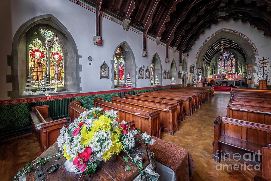 Catholic Photograph - Christmas Church Flowers by Adrian Evans
