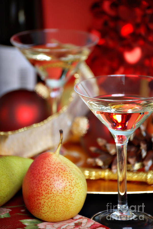 Alcohol Photograph - Christmas Cocktails by HD Connelly