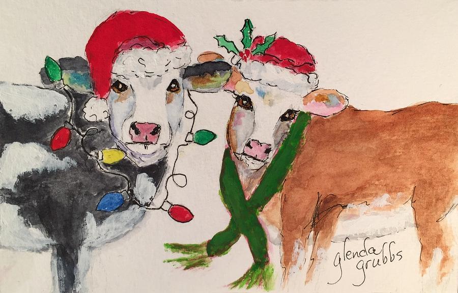 Christmas Cow.Christmas Cows