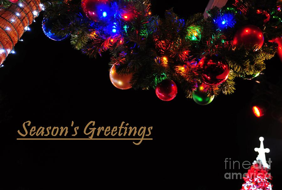 Colorful Photograph - Christmas Decoration Greeting  by Akshay Thaker-PhotOvation