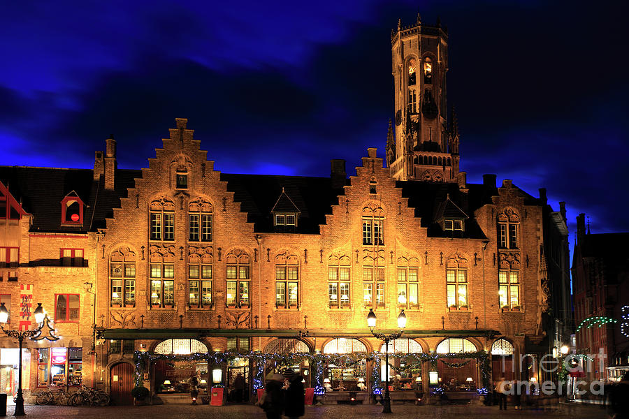 christmas decorations photograph christmas decorations on buildings bruges city by dave porter