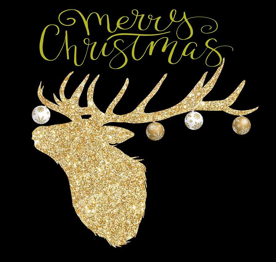 Deer Digital Art - Christmas Deer by Ericamaxine Price