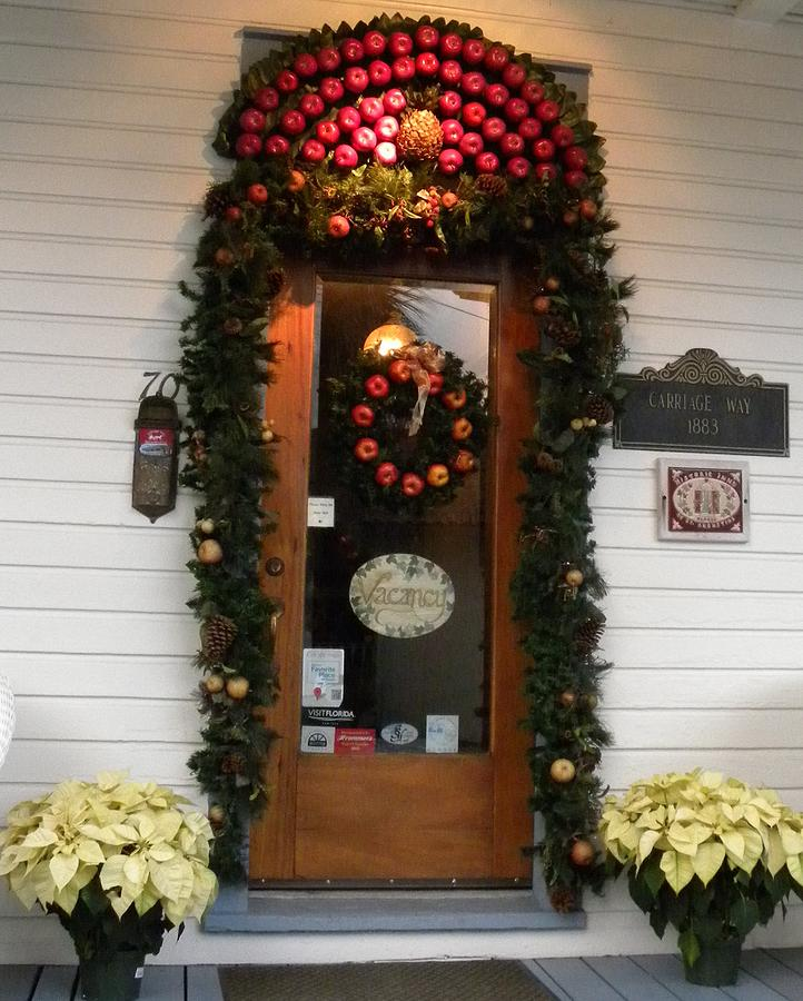 Christmas Photograph - Christmas Door by Kim Zwick