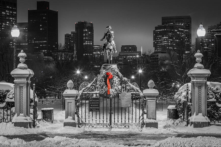Boston Photograph - Christmas Eve In Boston by Ryan McKee