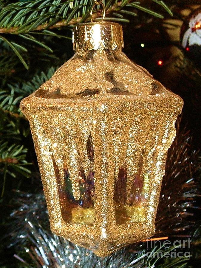 Christmas Photograph - Christmas Golden Lantern by Deborah Brewer