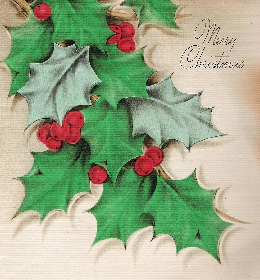 Christmas Greetings 588 Mistletoe Painting By Tuscan Afternoon