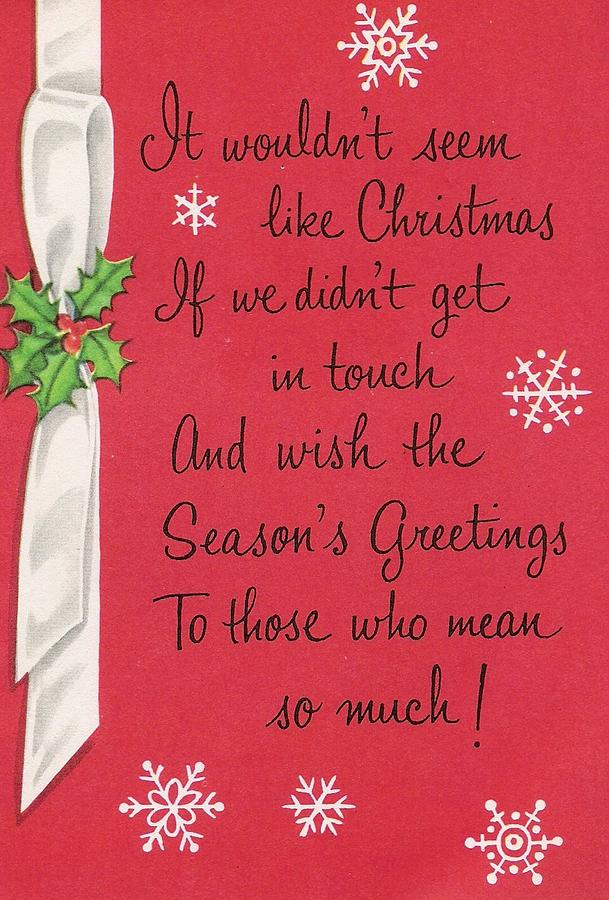Christmas Greetings 782 - Vintage Christmas Cards - Christmas Quotes