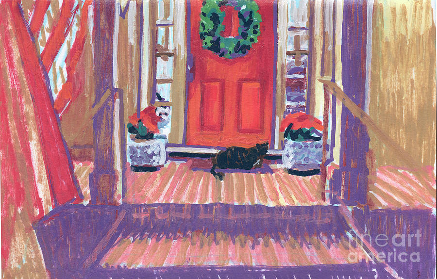 Christmas Greetings By Lily And Dixie Painting