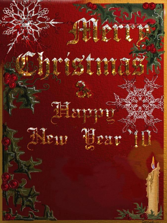 Christmas Greeting Card - Christmas Greetings by Conrad DCruz