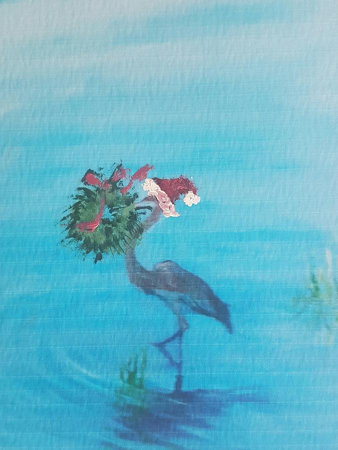 Christmas Heron by Cheryl LaBahn Simeone