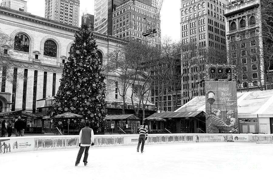 christmas ice skating photograph christmas ice skating at bryant park by john rizzuto