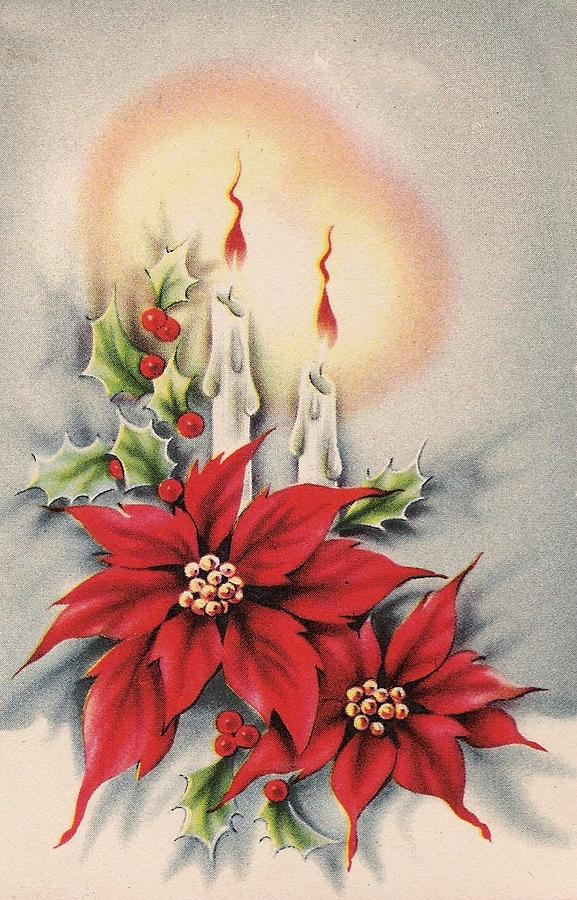 Vintage Christmas Candles.Christmas Illustration 1366 Vintage Christmas Cards Christmas Candles