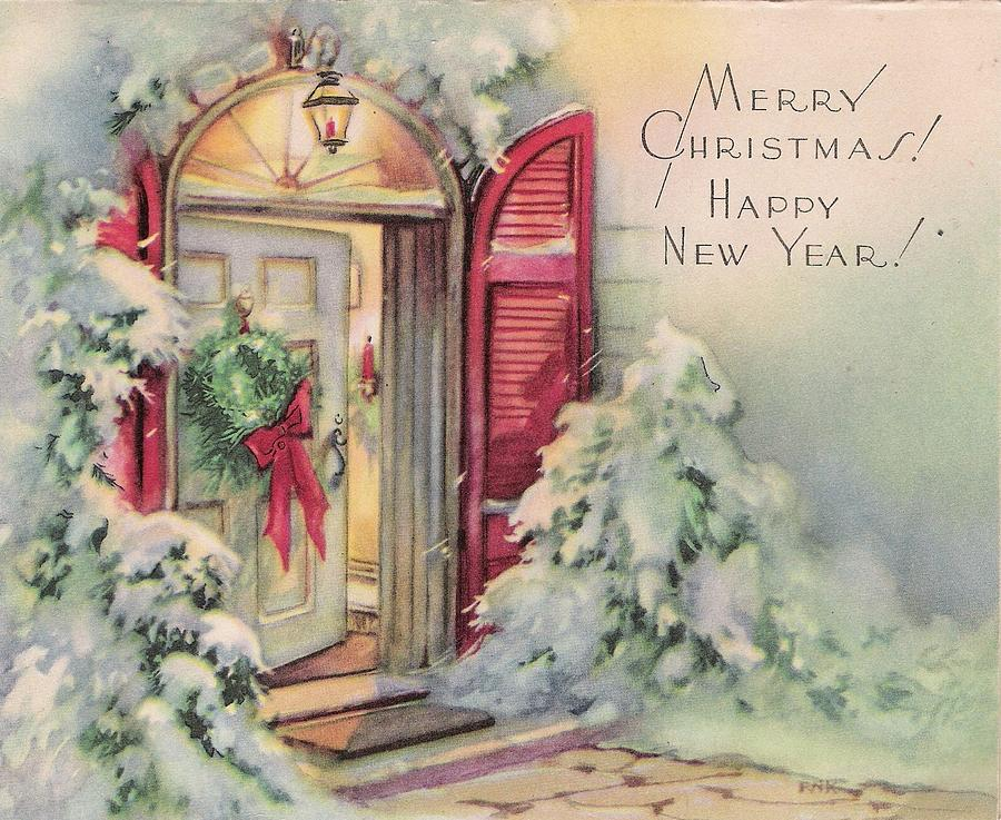 Christmas Illustration 301 - Vintage Christmas Cards ...