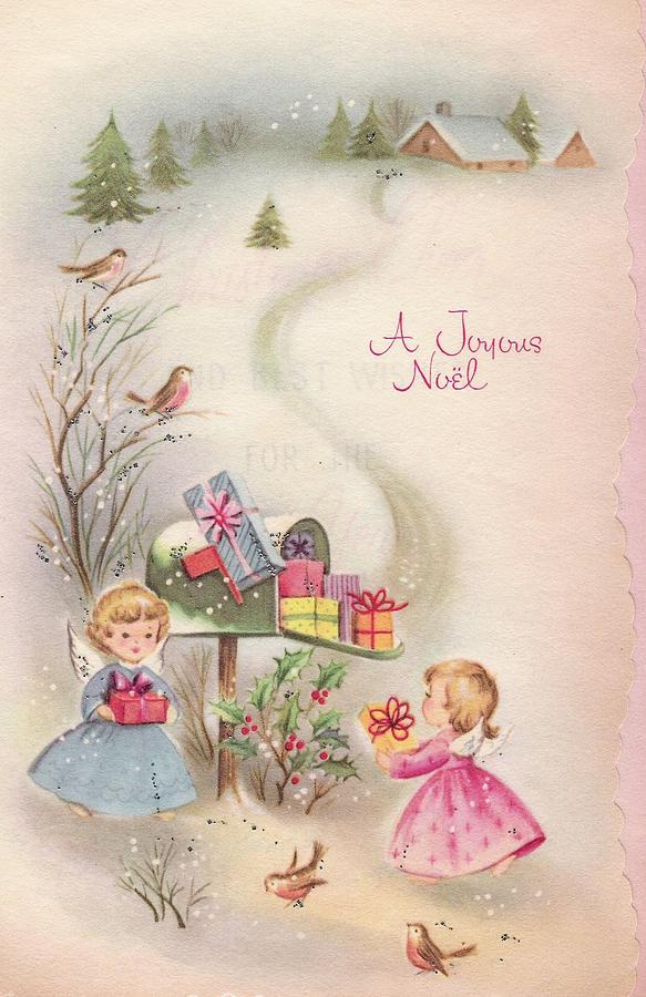 Vintage Angel Christmas Cards For Sale - Vintage German Nuremberg ...