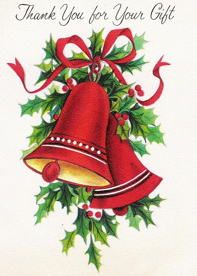Christmas Bell Images.Christmas Illustration 770 Vintage Christmas Cards Christmas Bells And Mistletoe