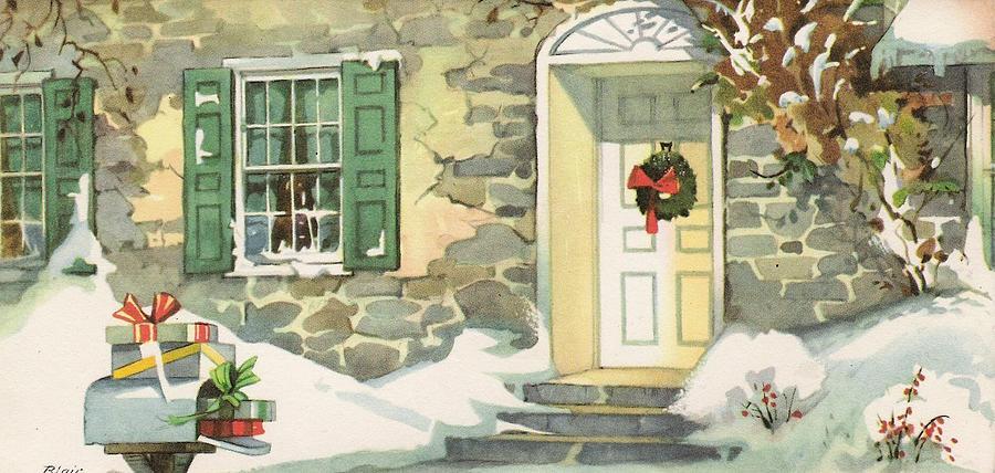 Christmas Illustration 875 - Vintage Christmas Cards - Christmas ...