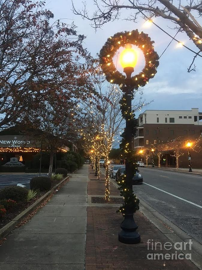 street lights photograph christmas in pensacola by patrick davis