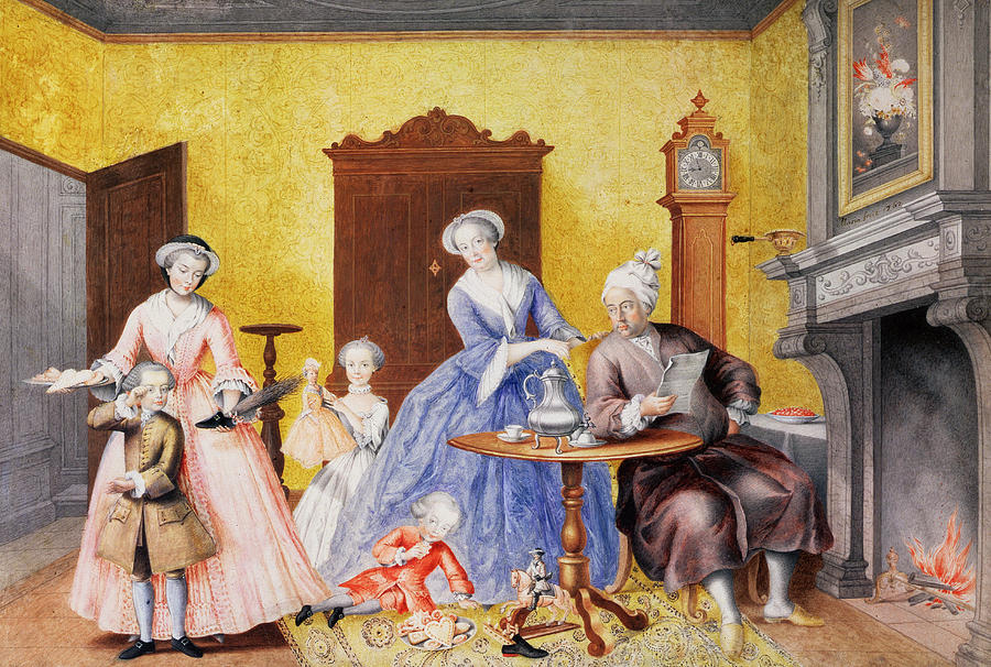 Habsburg Painting - Christmas In The Royal Household Of Empress Maria Theresa Of Austria With Family by Maria Christine