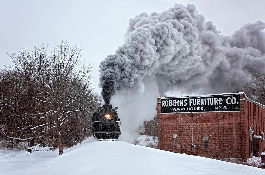 Train Photograph - Christmas Journey by Pat Eisenberger