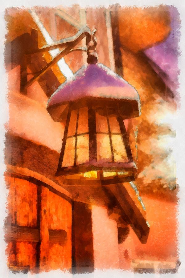 Christmas Painting - Christmas Lamp by Esoterica Art Agency