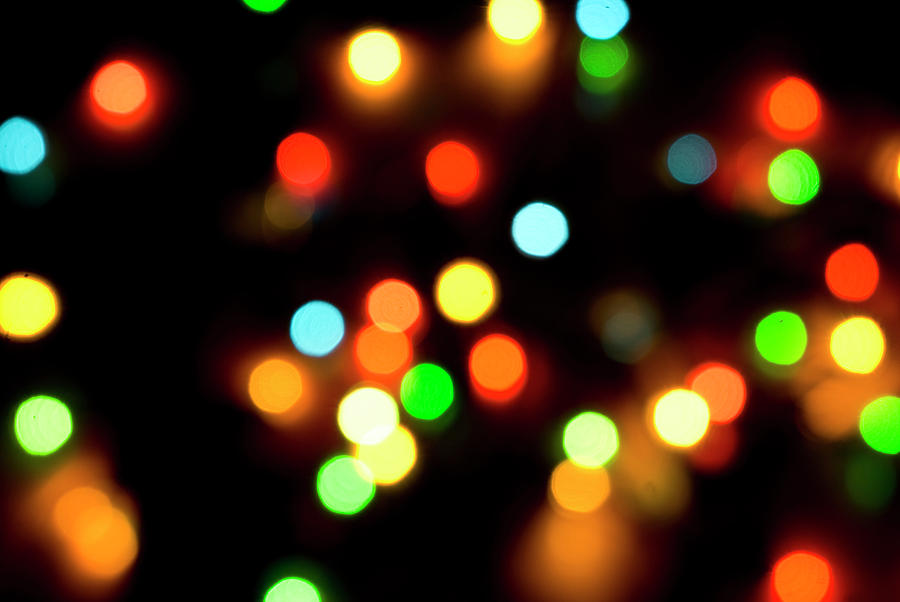 Abstract Photograph - Christmas Lights Background by Gabriel Blaj - Christmas Lights Background Photograph By Gabriel Blaj
