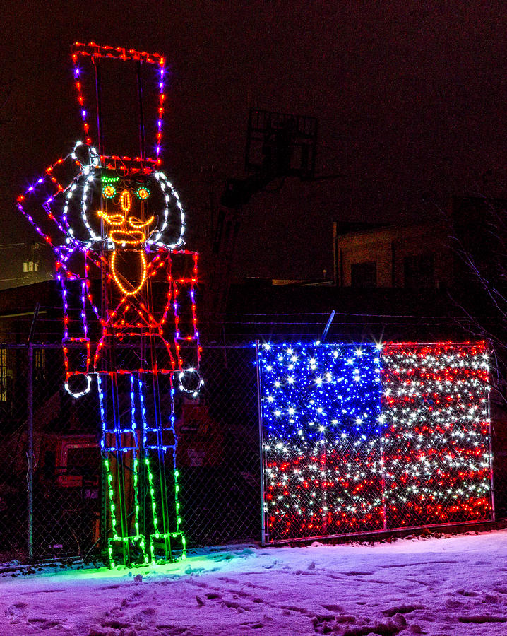 lc valley photograph christmas lights in the train park by brad stinson