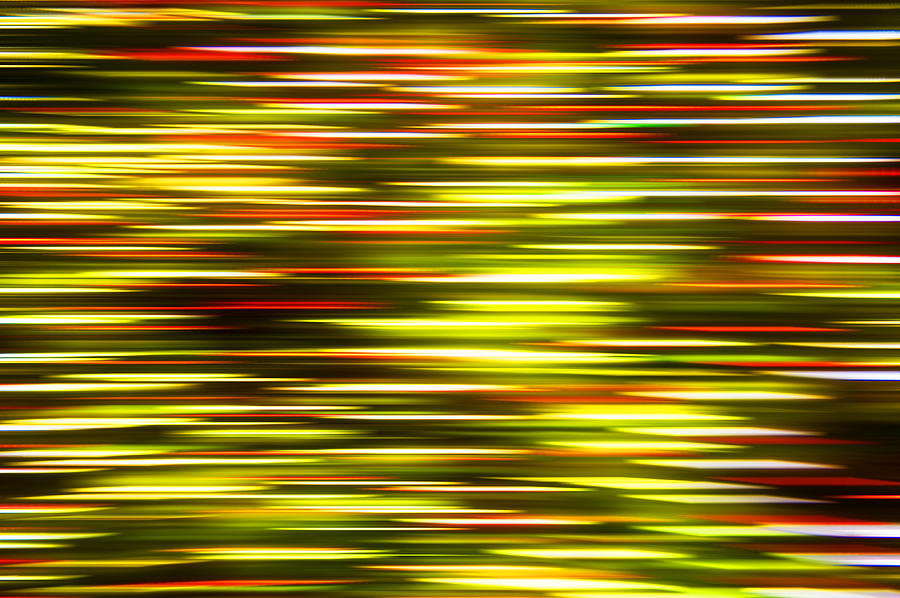 Abstract Photograph - Christmas Lights Pan  by Pam  Elliott