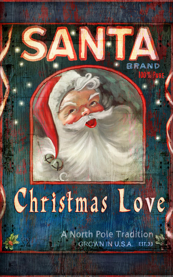 Santa Painting - Christmas love by Joel Payne