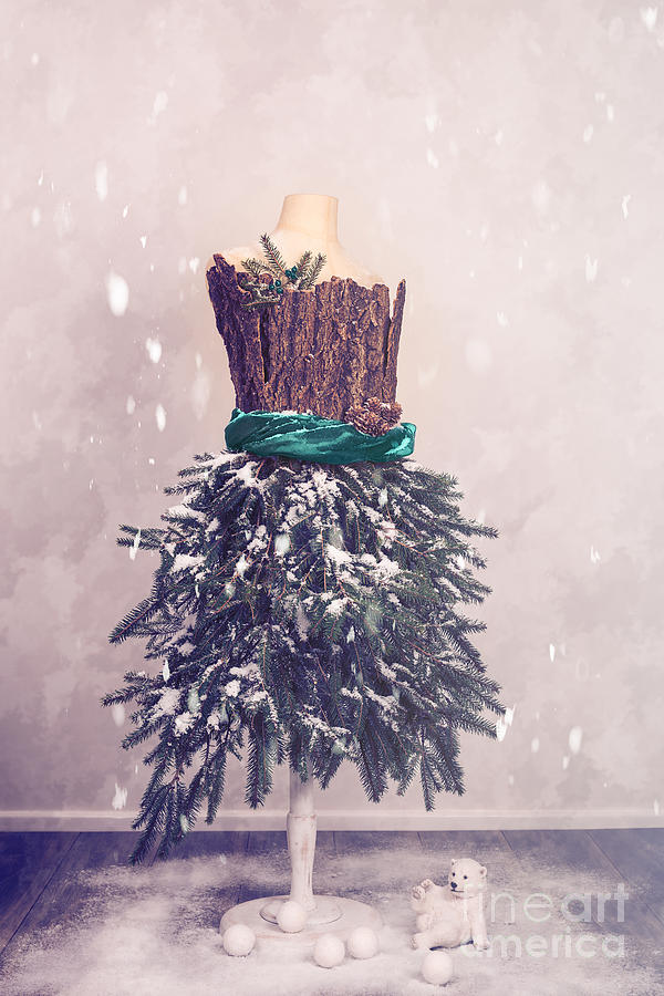 Christmas Photograph - Christmas Mannequin Dressed In Fir Branches by Amanda Elwell