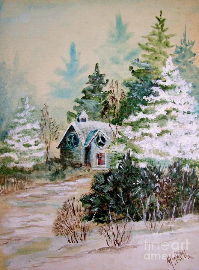 Chapel Painting - Christmas Morn by Marilyn Smith