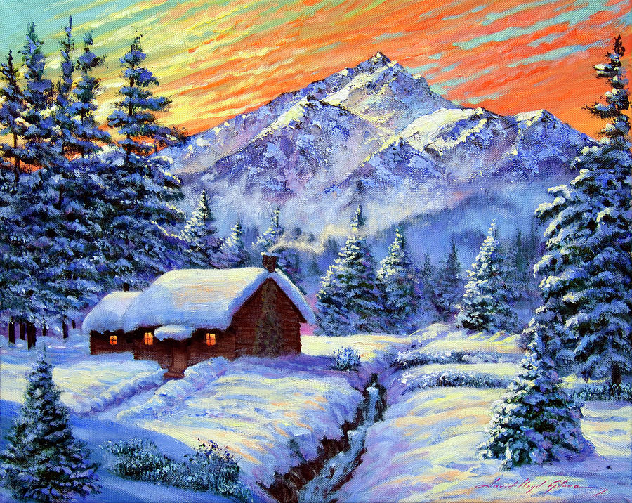 Christmas Morning Painting By David Lloyd Glover