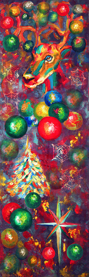 Christmas Painting - Christmas Orbs by Peter Bonk