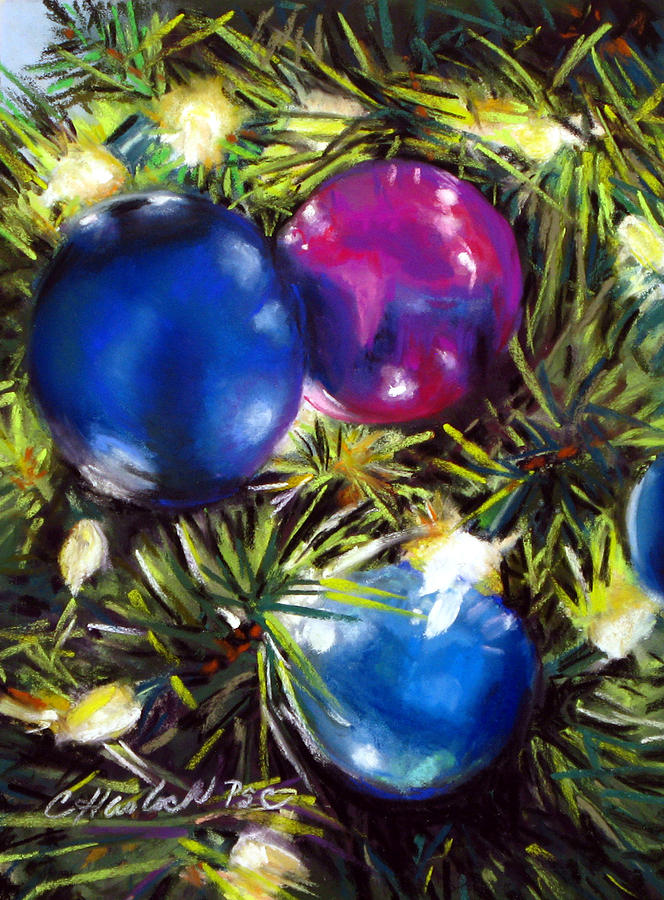 Lights Pastel - Christmas Ornaments by Carole Haslock