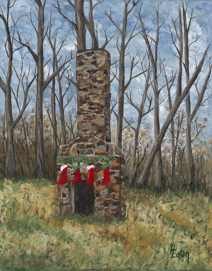 Christmas Stockings Painting - Christmas Past by Helen Eaton