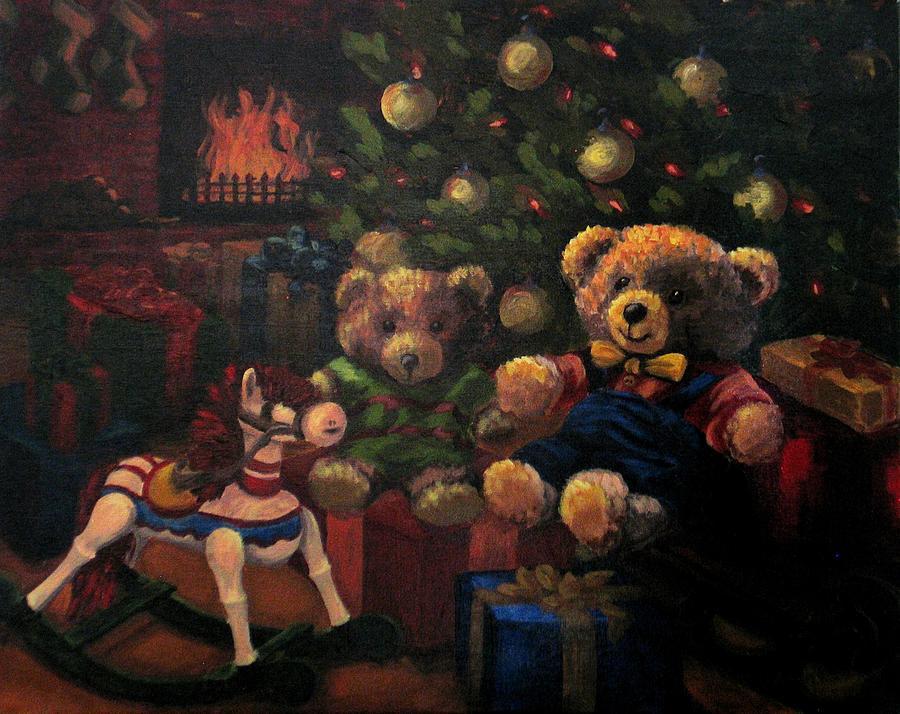 Christmas Painting - Christmas Past by Karen Ilari