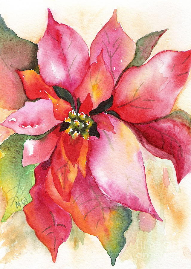 Christmas Painting - Christmas Poinsettia by Marsha Woods