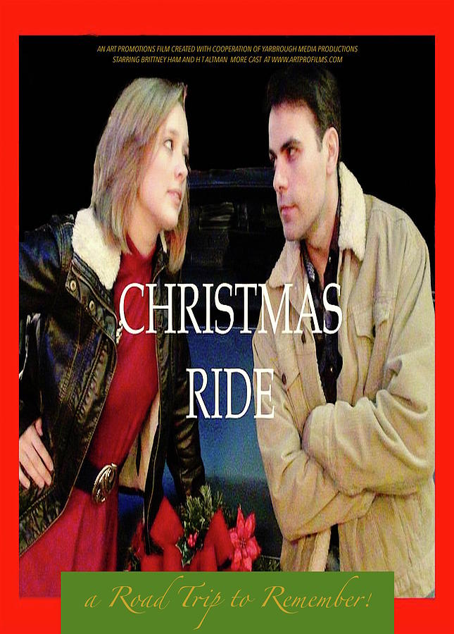 Movie Digital Art - CHRISTMAS RIDE Poster 16 by Karen E. Francis by Karen Francis
