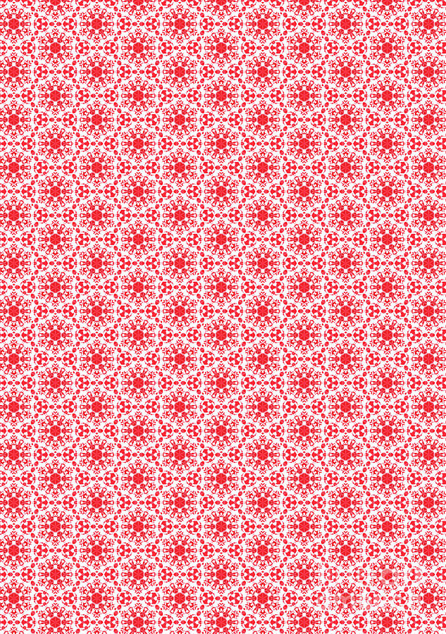 Christmas snow flakes pattern 2 by Silvia Ganora