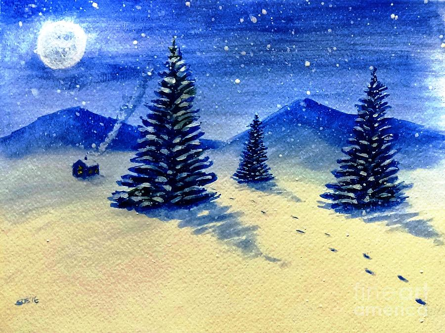 Christmas Painting - Christmas Snow by Stacy C Bottoms