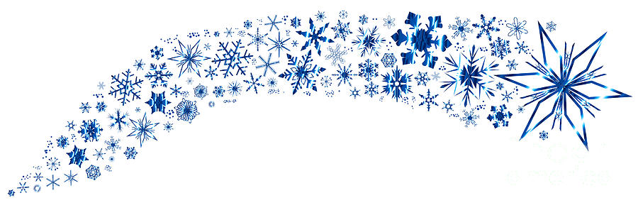 Christmas Snowflake Banner Digital Art By Bigalbaloo Stock
