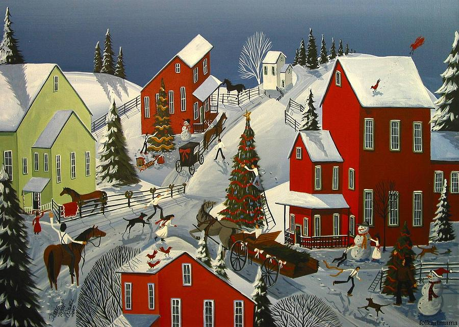 Wood Christmas Cards