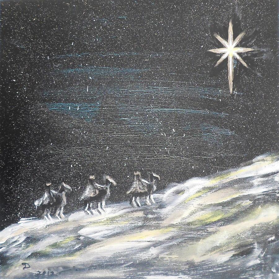 Original oil painting Christmas star 30*40cm