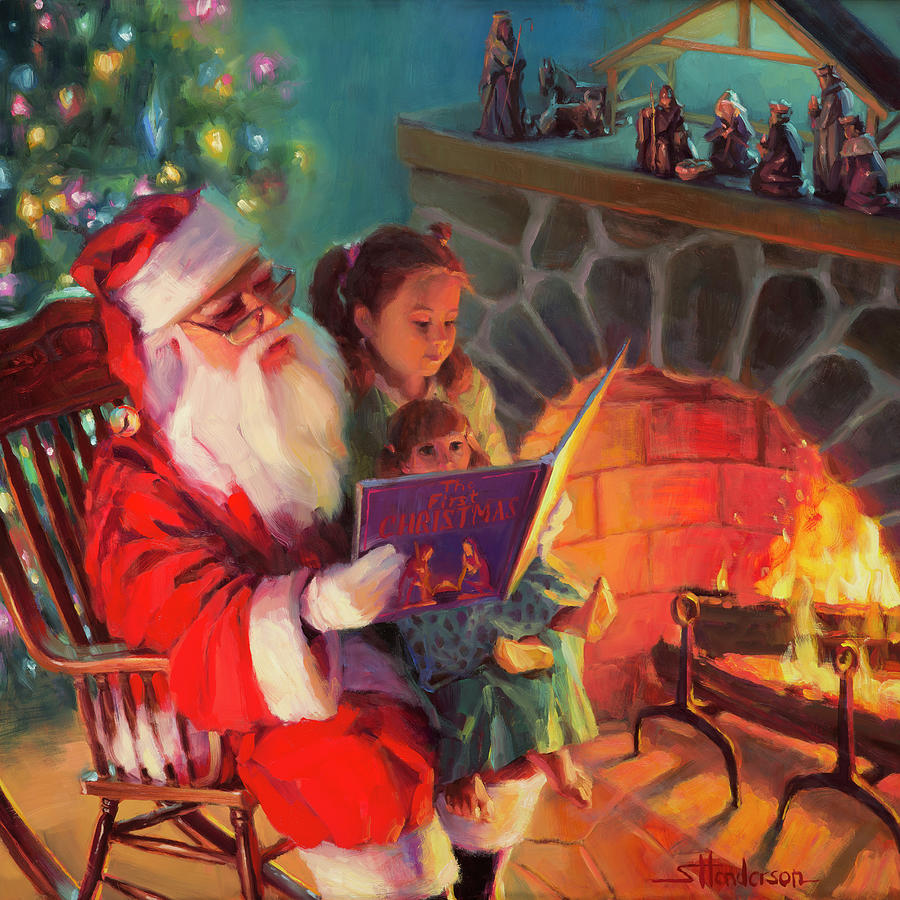 Christmas Painting - Christmas Story by Steve Henderson