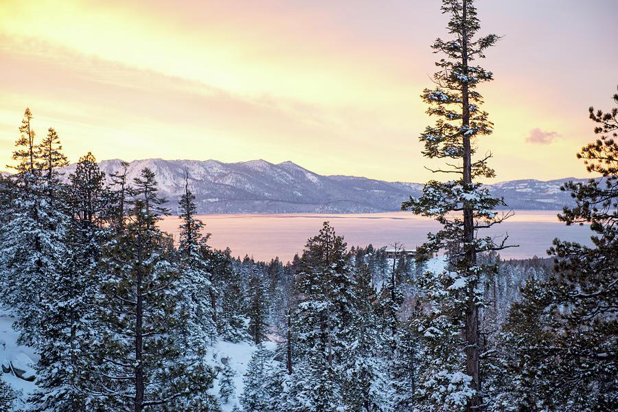 Christmas Sunset At Tahoe - Lake Tahoe - Nevada Photograph