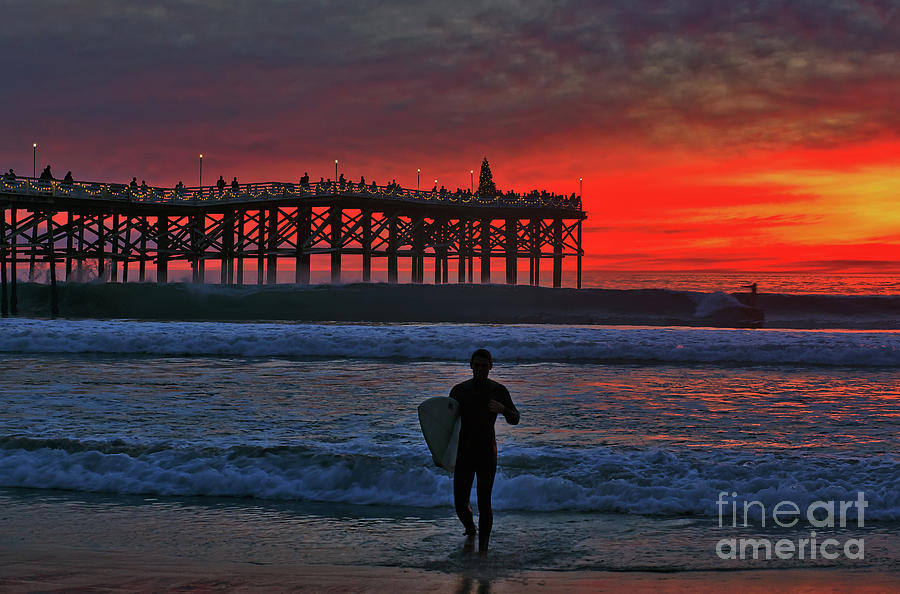Christmas Surfer Sunset by Sam Antonio Photography