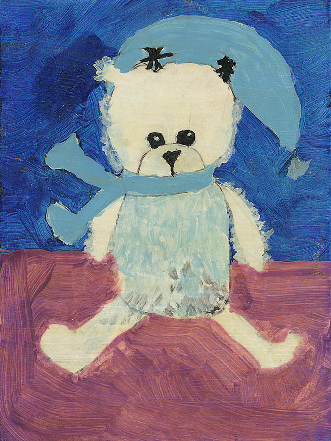 Bear Painting - Christmas Teddy by Marbear
