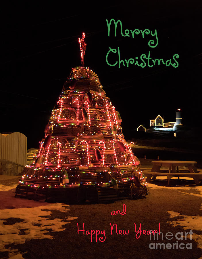 Christmas Time At Nubble Light by Patrick Fennell