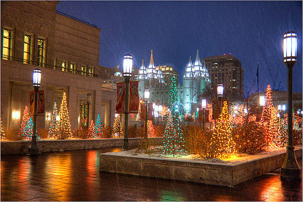 Christmas Time In Salt Lake City Photograph