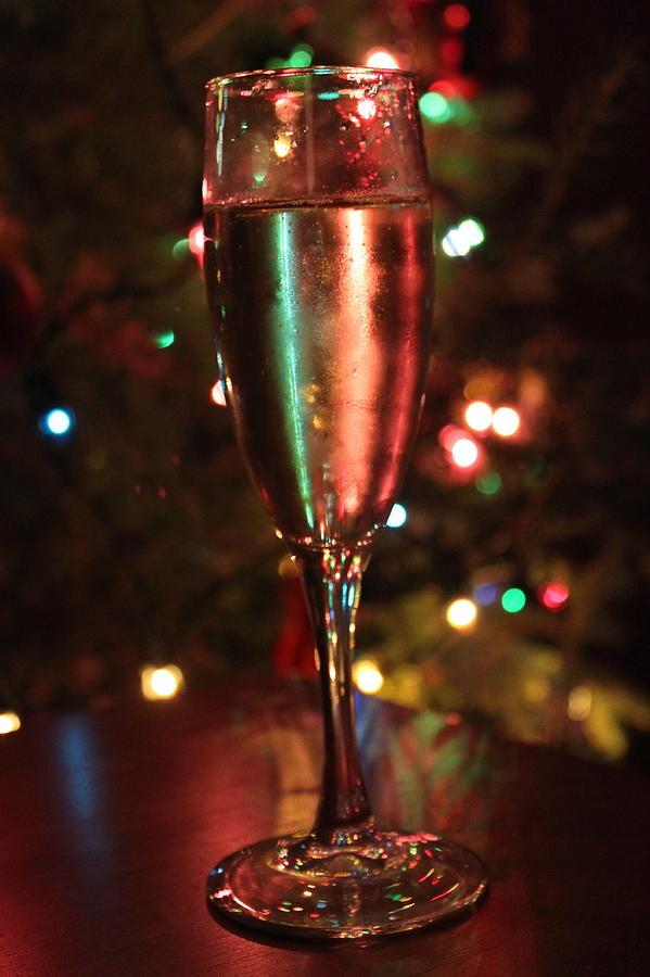 Champagne Photograph - Christmas Toast by Lauri Novak